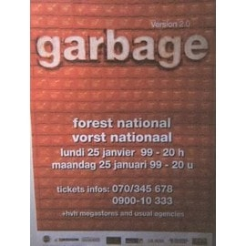 garbage - AFFICHE MUSIQUE / CONCERT / POSTER