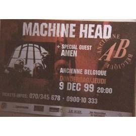 Machine head - AFFICHE MUSIQUE / CONCERT / POSTER