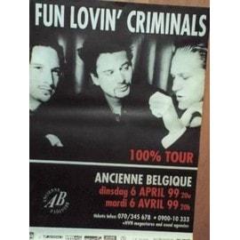 Fun lovin' criminals - AFFICHE MUSIQUE / CONCERT / POSTER