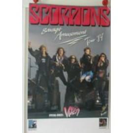 Scorpions - Savage amusement 89 - AFFICHE MUSIQUE / CONCERT / POSTER