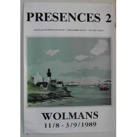 Wolmans - presences 2 - AFFICHE MUSIQUE / CONCERT / POSTER