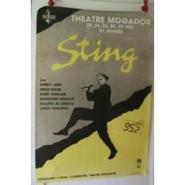 Sting - 1987 - AFFICHE MUSIQUE / CONCERT / POSTER
