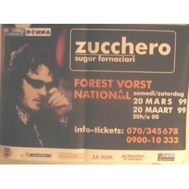 Zucchero - 1999 - AFFICHE MUSIQUE / CONCERT / POSTER