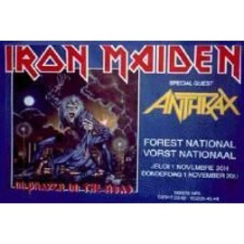 Iron Maiden - B - 1990 - AFFICHE MUSIQUE / CONCERT / POSTER