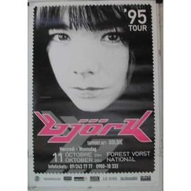 Björk - B - 1995 - AFFICHE MUSIQUE / CONCERT / POSTER