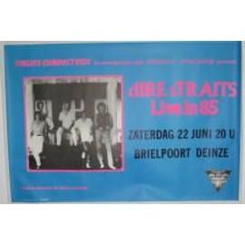 Dire Straits - B - 1985 - AFFICHE MUSIQUE / CONCERT / POSTER