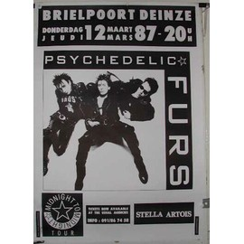 Psychedelic Furs - AFFICHE MUSIQUE / CONCERT / POSTER