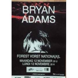 Adams Bryan - AFFICHE MUSIQUE / CONCERT / POSTER