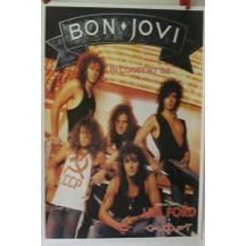 Bon Jovi - + Lita Ford - AFFICHE MUSIQUE / CONCERT / POSTER