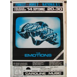 Commodores - The Emotions - AFFICHE MUSIQUE / CONCERT / POSTER