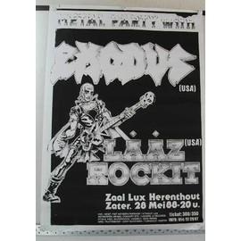 Exodus - AFFICHE MUSIQUE / CONCERT / POSTER
