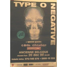 Type O Negative - AFFICHE MUSIQUE / CONCERT / POSTER