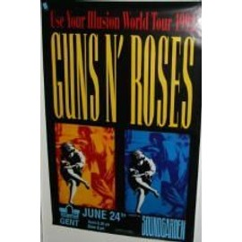 Guns n' roses - B - 1992 - - AFFICHE MUSIQUE / CONCERT / POSTER