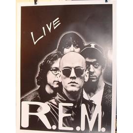 REM - live - AFFICHE MUSIQUE / CONCERT / POSTER