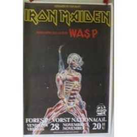 Iron Maiden - Somewhere on tour - AFFICHE MUSIQUE / CONCERT / POSTER