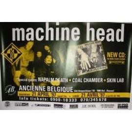 Machine Head - B - 1997 - AFFICHE MUSIQUE / CONCERT / POSTER