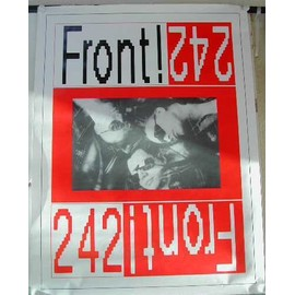 Front 242 - AFFICHE MUSIQUE / CONCERT / POSTER