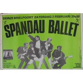 Spandau Ballet - AFFICHE MUSIQUE / CONCERT / POSTER
