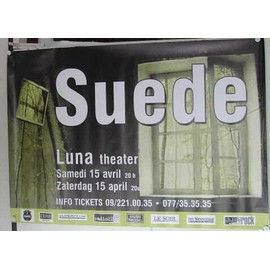 Suede - AFFICHE MUSIQUE / CONCERT / POSTER