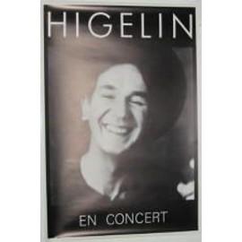 Higelin Jacques - AFFICHE MUSIQUE / CONCERT / POSTER
