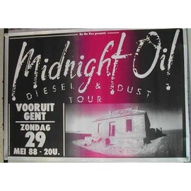 Midnight oil - AFFICHE MUSIQUE / CONCERT / POSTER
