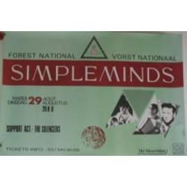 Simple Minds - AFFICHE MUSIQUE / CONCERT / POSTER