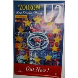 U2 - Zooropa - LP - AFFICHE MUSIQUE / CONCERT / POSTER
