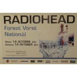 Radiohead - B - 1997 - AFFICHE MUSIQUE / CONCERT / POSTER