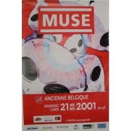 Muse - B - 2001 - AFFICHE MUSIQUE / CONCERT / POSTER