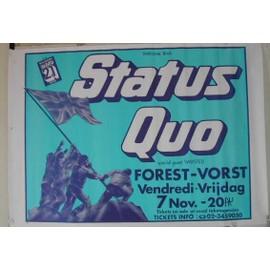 Status Quo - AFFICHE MUSIQUE / CONCERT / POSTER