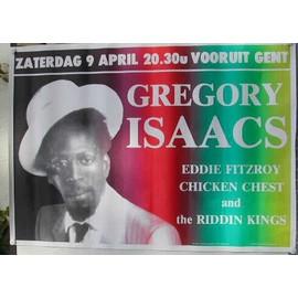 ISAACS Gregory - AFFICHE MUSIQUE / CONCERT / POSTER