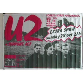 U2 - Unforgettable Fire Tour - AFFICHE MUSIQUE / CONCERT / POSTER