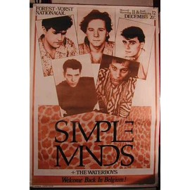 Simple Minds - Once Upon A Time - AFFICHE MUSIQUE / CONCERT / POSTER