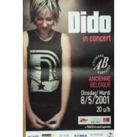 Dido - B - 2000 - AFFICHE MUSIQUE / CONCERT / POSTER