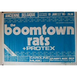 Boomtown rats The - AFFICHE MUSIQUE / CONCERT / POSTER