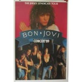 Bon Jovi - jersey tour 89 - AFFICHE MUSIQUE / CONCERT / POSTER