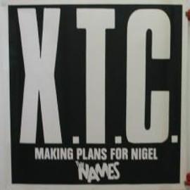 XTC - noire - AFFICHE MUSIQUE / CONCERT / POSTER