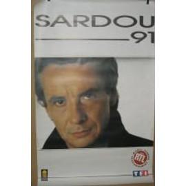 Sardou Michel - 1991 - AFFICHE MUSIQUE / CONCERT / POSTER