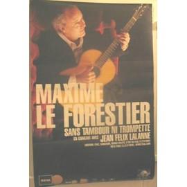 Le Forestier Maxime - AFFICHE MUSIQUE / CONCERT / POSTER