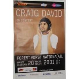 David Craig - B - 2001 - AFFICHE MUSIQUE / CONCERT / POSTER