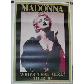 Madonna - Who's That Girl? Tour87 - AFFICHE MUSIQUE / CONCERT / POSTER