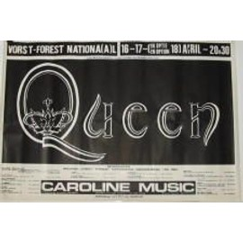 Queen - B - 1980 - AFFICHE MUSIQUE / CONCERT / POSTER