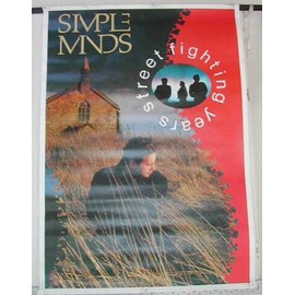 Simple Minds - Street Fighting Years - AFFICHE MUSIQUE / CONCERT / POSTER