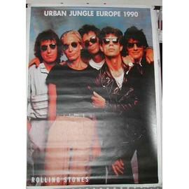 Rolling Stones - Urban Jungle 1990 - AFFICHE MUSIQUE / CONCERT / POSTER