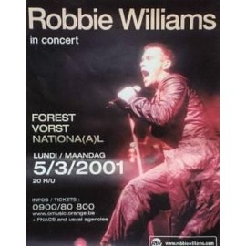Williams Robbie - AFFICHE MUSIQUE / CONCERT / POSTER