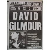 Gilmour David - Affiche Musique / Concert / Poster