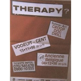 Therapy - AFFICHE MUSIQUE / CONCERT / POSTER