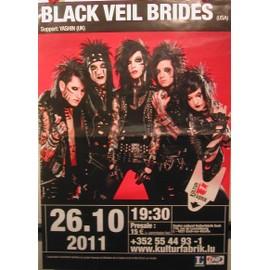 Black Veil Brides - 2011 - AFFICHE MUSIQUE / CONCERT / POSTER