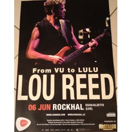 Lou Reed - From VU To LULU - AFFICHE MUSIQUE / CONCERT / POSTER