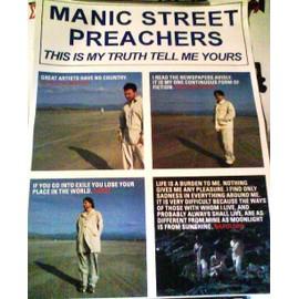 Manic Street Preachers - AFFICHE MUSIQUE / CONCERT / POSTER